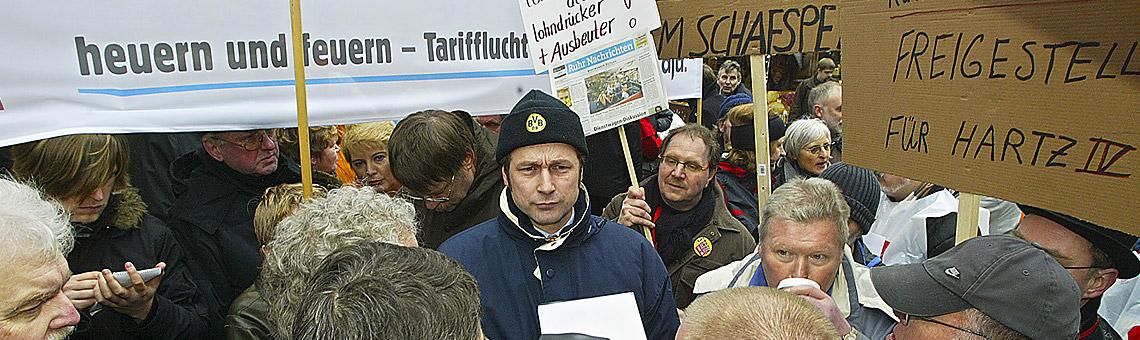 Mitten im Proteststurm: der Dortmunder Verleger Lambert Lensing-Wolff.| Foto: Anja Cord