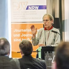 Eberhard Wühle (r.) trat gegen den Landesvorsitzenden an, ohne sich echte Chancen auszurechnen. | Foto: Arne Pöhnert