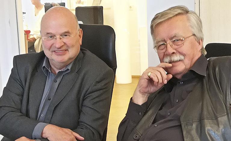 Ehemalige Landesvorsitzende und Impulsgeber fürs JOURNAL Michael Kroemer r.) und Gregor Spohr (l.). | Foto: Corinna Blümel