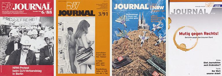 Vier Titelbilder aus verschiedenen Jahrzehnten, die im Gedächtsnis blieben – und deshalb im Gespräch vorkommen.