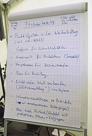 Was Besserung bringen könnte, sammelten die Teilnehmer anschließend mit der Design-Thinking-Methode. | Foto: Corinna Blümel