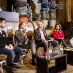 Forum zu Geflüchteten mit (v.l.) Ali Çan, Sümeyra Kaya, Kay Bandermann, Verica Spasovska und Hussam Al Zaher. | Foto: Udo Geisler