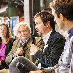 Wilfried Bommert (2.v.l.) moderierte das Landwirtschaftsforum mit Oda Lambrecht, Matthias Kussin und Dirk Nienhaus (r.). | Foto: Udo Geisler