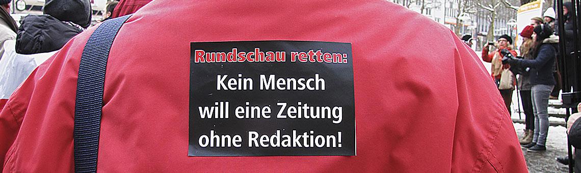 Protest gegen die Schließung der WR im Januar 2013. | Foto: txt