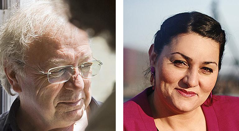 Osman Okkan und Lamya Kaddor. | Foto: Boghos Boghossian, privat