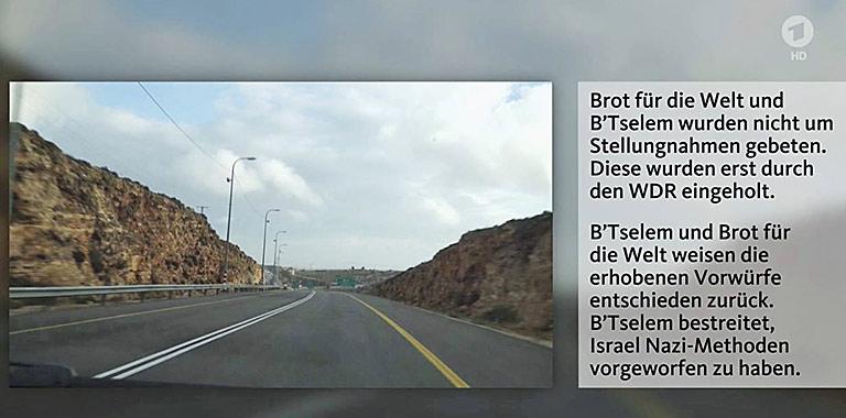 Mit Einblendungen und Schrifttafeln dokumentierte der WDR seine Zweifel am ausgestrahlten Film. | Screenshots
