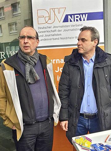 Landes- und Bundesvorsitzender: Frank Stach (l.) und Frank Überall. | Foto: Volkmar Kah