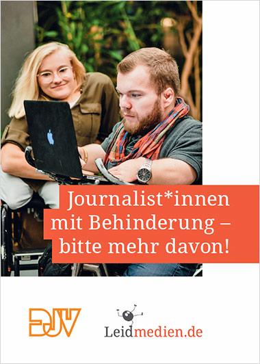 """""""Journalist*innen mit Behinderung – bitte mehr davon"""""""