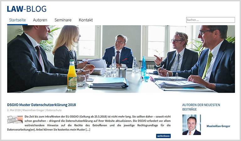Auf dem Smartspeaker abrufbar: das Lawblog von Udo Vetter. | screenshot