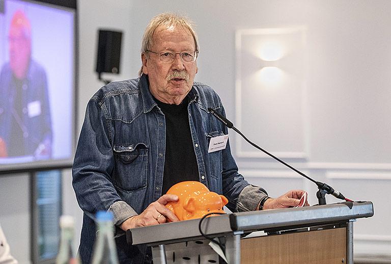 Sven Hamann beim Gewerkschaftstag in Köln. | Foto: Arne Pöhnert