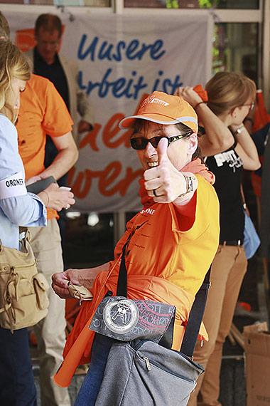 Geballte Zuversicht strahlt Inge Ansahl vom Fachausschuss Tageszeitungen aus. | Foto: Anja Cord