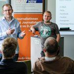 Ihre Gründerprojekte stellten Benedikt Brüggenthies und Martin Wosnitza vor. | Foto: Alexander Schneider