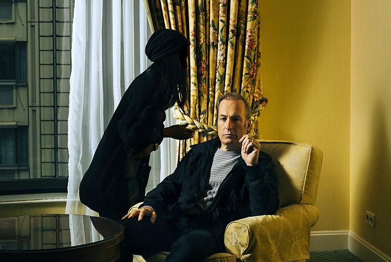 Den Zufall nutzen: Als die Make-up-Frau hinter Schauspieler Bob Odenkirk entlanghuschte, drückte Jonas Holthaus auf den Auslöser. | Foto: Jonas Holthaus
