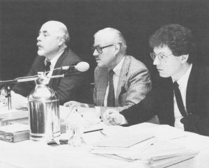 Foto mit Graf Zedtwitz als Tagsungpräsident 1985.
