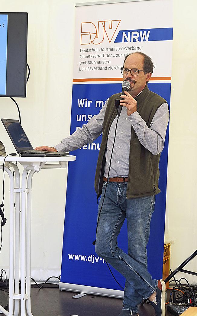 Alles Wichtige zur Existenzgründung erklärte Freienreferent Michael Hirschler. | Foto: Corinna Blümel