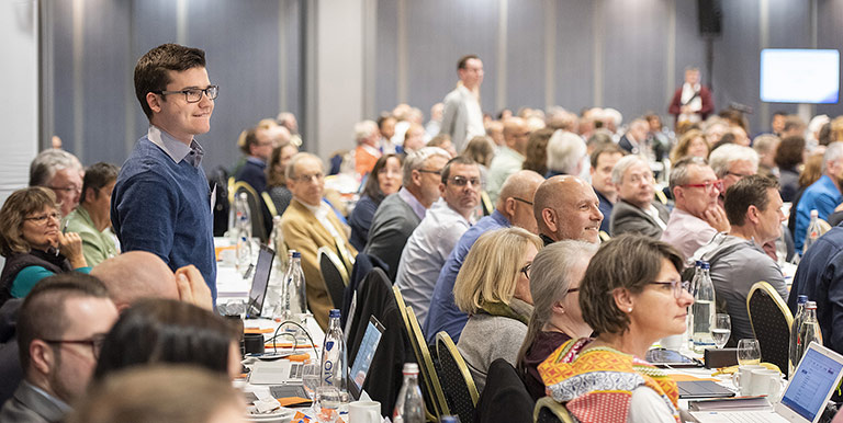 Oscar Vitlif, jüngster NRW-Delegierter, wurde in Dresden frisch in den Bundesfachausschuss Zukunft entsandt. | Foto: Frank Sonnenberg