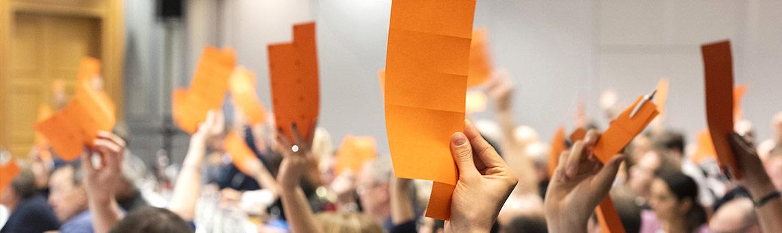 Auf dem Verbandstag bestimmte der DJV in mehrfacher Hinsicht seine Position. | Foto: Frank Sonnenberg