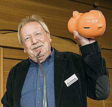 Als Vorsitzender immer auf Werbetour für den U-Verein: Sven Hamann. | Foto: Arne Pöhnert
