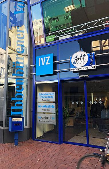 Die Redaktion der Ibbenbürener Volkszeitung sitzt mitten in der Innenstadt. | Foto: Werner Hinse