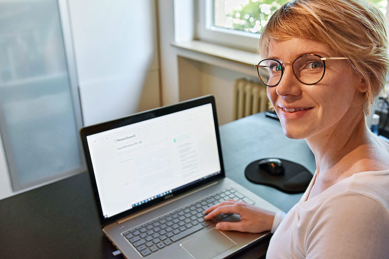 Caroline Lindekamp ist als freie Journalistin für NewsGuard tätig. | Foto:Arnaud Asquin