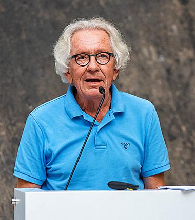 Minister Dr. Stephan Holthoff-Pförtner sprach bei Presse.Dialog.Ruhr auf Zeche Zollverein. | Foto: Markus Mucha