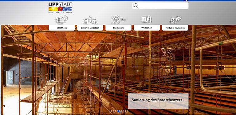 Über das informieren, was die Lippstädter Bürgerinnen und Bürger betrifft: Das geht mit der neuen responsiven Seite. | Screenshot lippstadt.de