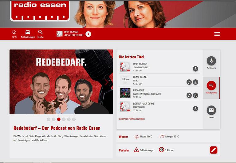 Die Webseite des Radio Essen. | Screenshot