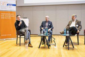 Wie Algorithmen Content ausspielen, erläuterten (v.l.) Andreas Grün, Kay Bandermann und Thomas Laufersweiler. | Foto: Udo Geisler