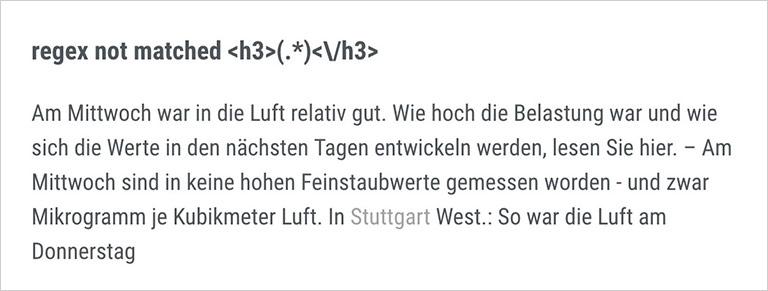 Wenn Sensoren und Software nicht gut miteinander kommunizieren, kann es im Einzelfall zu Fehlermeldungen kommen. Screenshots: www.stuttgarter-zeitung.de