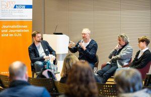 Über die Zukunft der Arbeit sprachen (vl.l.) Johannes Meyer, Joachim Dreykluft, Dr. Rüdiger Klatt und Barbara Maas. | Foto: Udo Geisler
