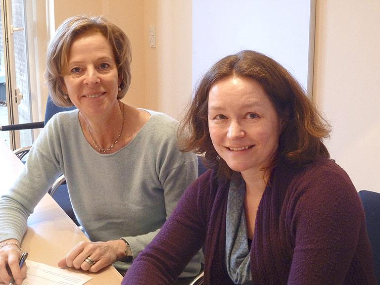 Die neue Bildungsbeauftragte Anna von Garmissen (r.) und Eva Alberty aus der Geschäftsstelle. | Foto: Sascha Fobbe
