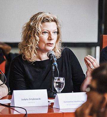 Konstantina Vassiliou-Enz von den Neuen deutschen Medienmacher*innen. | Foto: Andi Weiland