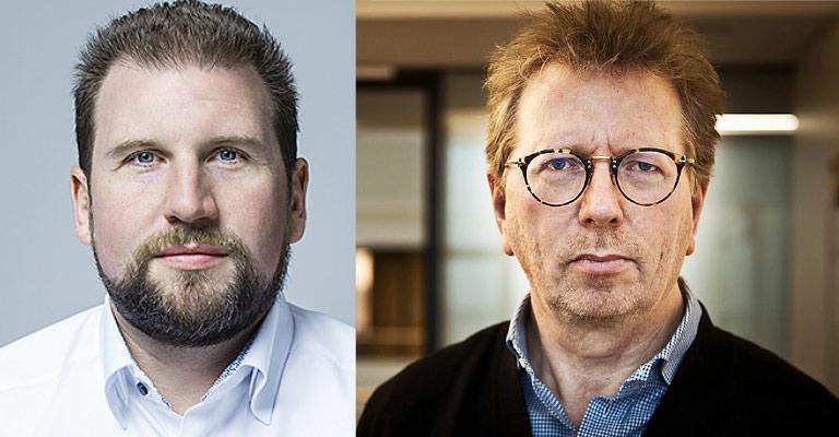 DJV-Landesgeschäftsführer Volkmar Kah (l.) und Cordt Schnibben von der Bürgerakademie für Medienkompetenz. | Foto: Andreas Wegelin FotoArt, Bernhard Riedmann