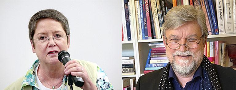 Ulrike Kaiser (l.) und Joachim Umbach engagieren sich für Qualität im Journalismus. | Fotos: Anja Cord, privat
