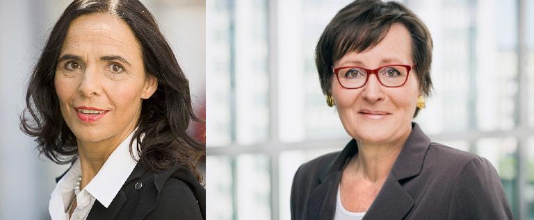 Journalistik-Professorin Marlis Prinzing (l.) und Anja Pasquay, Pressesprecherin des BDZV. | Foto: Martin Jepp, BDZV