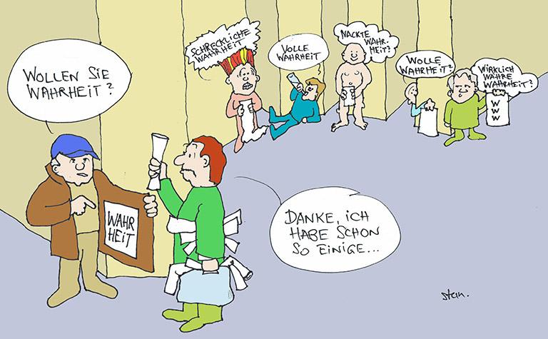 Eine Karikatur von Karlheinz Stannies