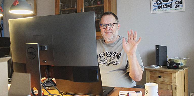 Mantelredakteur Heribert Förster kann dem Arbeiten zu Hause viel abgewinnen. | Foto: Nick Förster