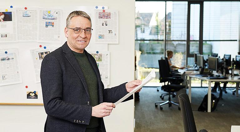 Beim Westfälischen Anzeiger in Hamm hat sich das mobile Arbeiten bewährt, findet Chefredakteur Martin Krigar. | Foto: Robert Szkudlarek