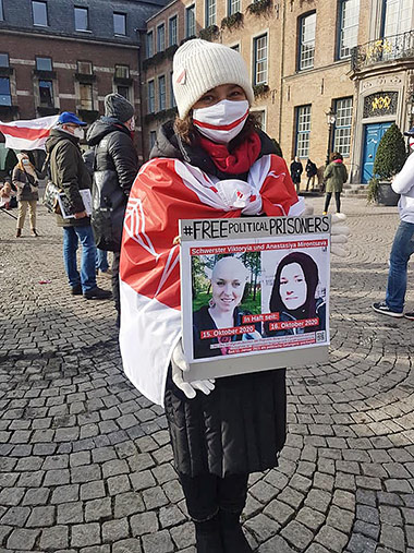 Demonstration gegen Repressionen in Belarus.  Foto: Marie Kirschstein